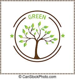grün, baum