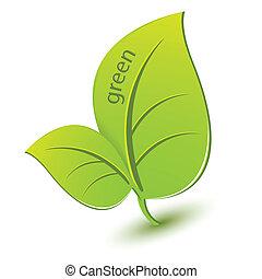 grün, blatt