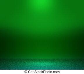grün, boden, und, wand, hintergrund
