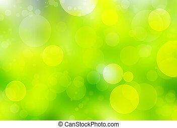 grün, bokeh, hintergrund