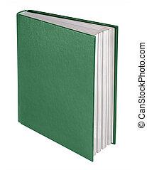 grün, buch, freigestellt