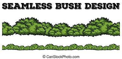 grün, busch, design, seamless