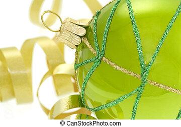 grün, dekorative kugel