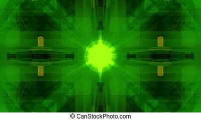 grün, digital, geometrisch, vj, schleife