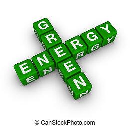 grün, energie, etikett