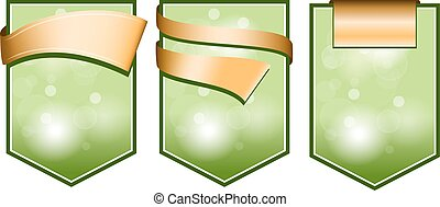 grün, geschenkband, etikett