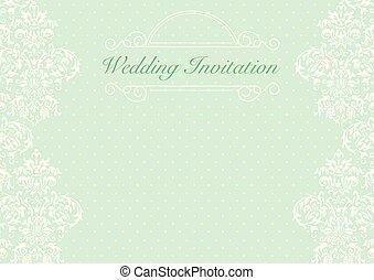 Wedding Gruner Hintergrund Einladung Licht Punktiert Muster