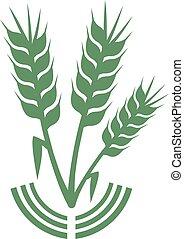 grün, landwirtschaft symbol