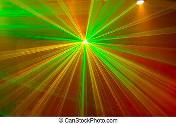 grün, laser, rote lichter