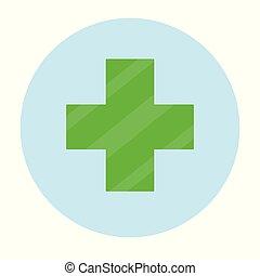 grün, logo., apotheke