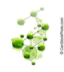 grün, molekül