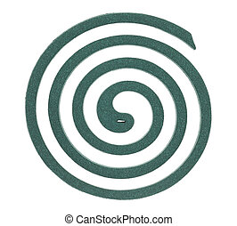 grün, moskito, spirale