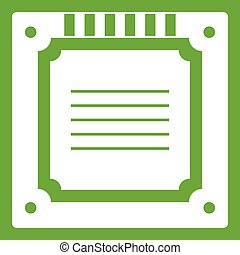 grün, multicore, modern, cpu, ikone