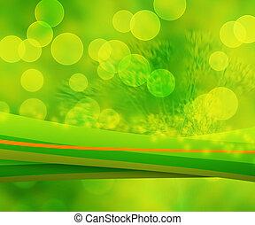 grün, natur, abstrakt, hintergrund