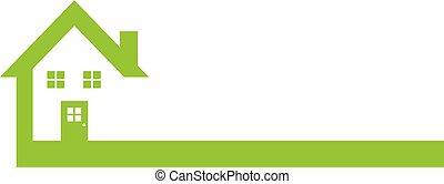 grün, real estate, logo