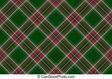 grün rot, diagonal, kontrollieren, stoffstruktur, seamless,...