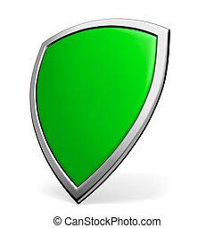grün, schutzschirm, weiß