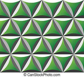grün, seamless, muster