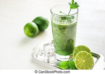 grün, smoothie