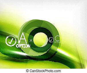 grün, sommer, welle, -, geschaeftswelt, eco, hintergrund