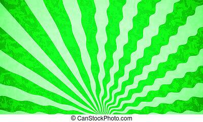 grün, sonnenstrahlen, grunge, hintergrund