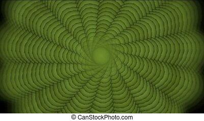 grün, strudel- muster, schleife