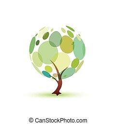 grün, symbol, baum