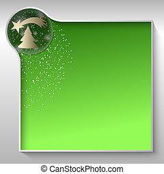 grün, textfeld, für, irgendein, text, mit, weihnachten,...
