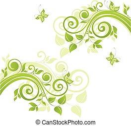 grün, umrandungen