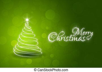 grün, weihnachtskarte