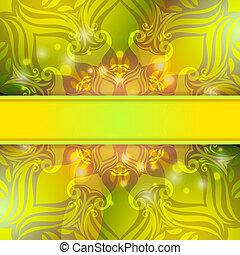 grün, weinlese, vektor, abstrakt, hintergrund