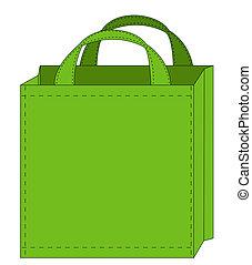 grün, wiederverwendbar, einkaufstüte