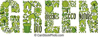 grün, wort, umwelt, heiligenbilder
