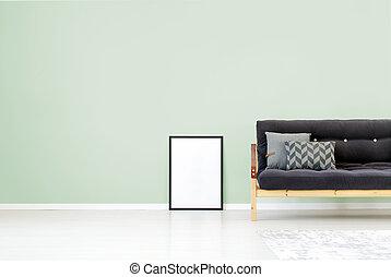 Grüne Wand, Wohnzimmer