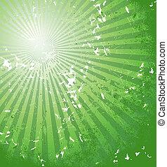 grüner abriß, hintergrund
