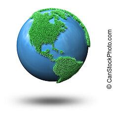 grüner globus