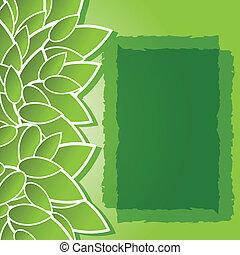grüner hintergrund, mit, blätter