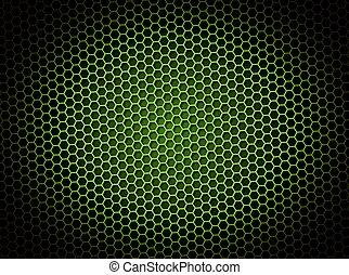 grüner hintergrund, wabe