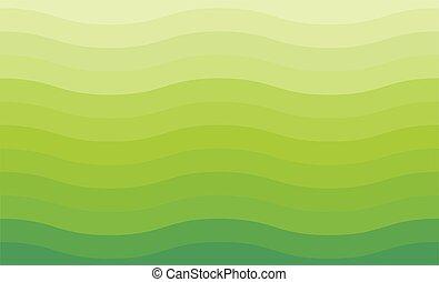 grüner hintergrund, welle