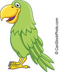 grüner papagei