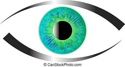 gr nes auge iris iris gr n abbildung eye stock illustration suchen sie nach clipart. Black Bedroom Furniture Sets. Home Design Ideas