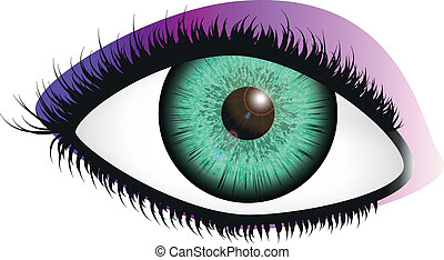 gr nes auge mysteri s vektor gr n abbildung eye. Black Bedroom Furniture Sets. Home Design Ideas