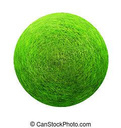 grünes gras, kugel