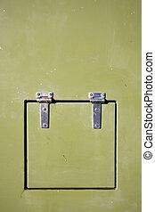grünes metall, hintergrund