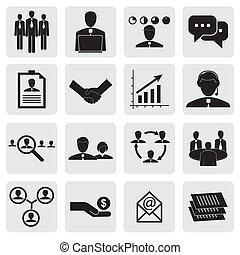 gr, オフィス, &, 人々, business-, ベクトル, 概念, icons(signs)