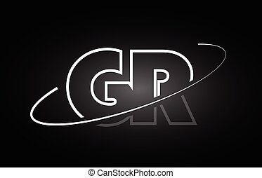 479014bd7019 Gr g r logo design with black and white creative text letter vector ...