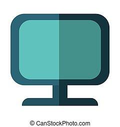 gr, tablet, gadget, vrijstaand, vector, pictogram, technologie, illustration.