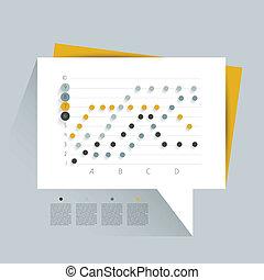 gra, empresa / negocio, ejemplo, diseño, plano