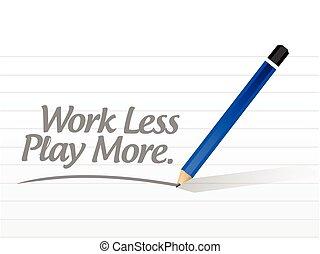 gra, mniej, praca, ilustracja, projektować, wiadomość, więcej