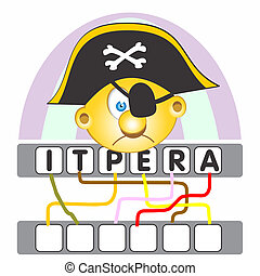 gra, słowo, pirat